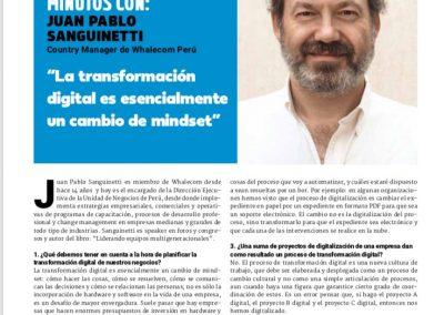 """""""La transformación digital es esencialmente un cambio de mindset"""""""