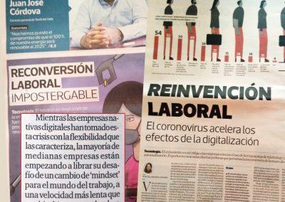 Coronavirus acelera los efectos de la digitalización y obliga a la reinvención laboral